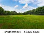 lawn in public park | Shutterstock . vector #663315838