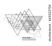 vector hipster triangle... | Shutterstock .eps vector #663323704