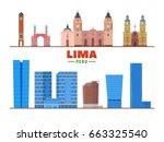 Lima  Peru  Skyline Landmarks...