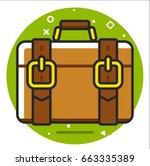 valise icon | Shutterstock .eps vector #663335389