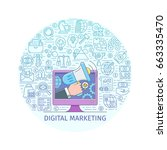 digital marketing concept.... | Shutterstock .eps vector #663335470