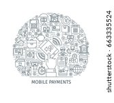 mobile payments concept. design ... | Shutterstock .eps vector #663335524
