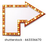 arrow icon with lamps | Shutterstock . vector #663336670