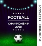 football championship poster ... | Shutterstock .eps vector #663343309