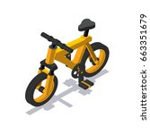 isometric bicycle icon | Shutterstock .eps vector #663351679