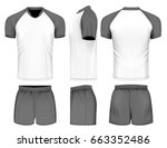 rugby uniform jersey and shorts....   Shutterstock .eps vector #663352486