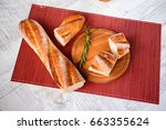 freshly baked bread. different... | Shutterstock . vector #663355624