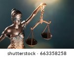 statue of justice. | Shutterstock . vector #663358258
