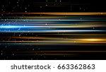 beautiful light flares. glowing ... | Shutterstock . vector #663362863
