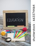 education background with... | Shutterstock . vector #663374464