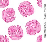 plant background of painted ...   Shutterstock .eps vector #663374893