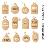 discounts tags. drop price and... | Shutterstock .eps vector #663375979