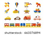 Kids Toy Icons Set For Web...