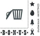 trash can icon illustration....