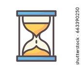 sand glass icon   Shutterstock .eps vector #663390250