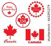 red canada day graphics | Shutterstock .eps vector #663391279