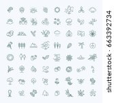 big natural icon set | Shutterstock .eps vector #663392734