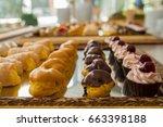 pastries italian delicacies...   Shutterstock . vector #663398188