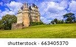 most beautiful castles of... | Shutterstock . vector #663405370
