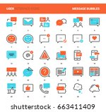 vector set of message bubbles... | Shutterstock .eps vector #663411409