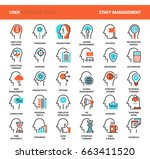 vector set of business and... | Shutterstock .eps vector #663411520