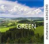 think green. aerial view of the ... | Shutterstock . vector #663412540