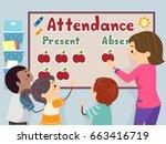 an illustration of stickman...   Shutterstock .eps vector #663416719