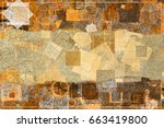 abstract pattern brown color... | Shutterstock . vector #663419800