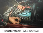 car diagnostic  hands of... | Shutterstock . vector #663420763