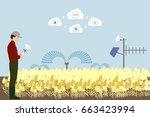 internet of things in... | Shutterstock .eps vector #663423994