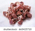 boneless mutton trunk | Shutterstock . vector #663425710