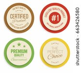badges and labels collection.... | Shutterstock .eps vector #663426580