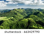 beautiful view from hill hrdos  ... | Shutterstock . vector #663429790