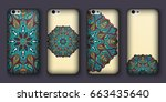 phone cover collection  boho...   Shutterstock .eps vector #663435640
