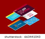 isometric user interface design ... | Shutterstock .eps vector #663441043