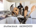 kitchen utensil. | Shutterstock . vector #663442453