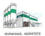 concrete plant | Shutterstock .eps vector #663447073