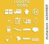 simple logistics icons set....