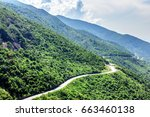 hai van pass   the famous road... | Shutterstock . vector #663460138