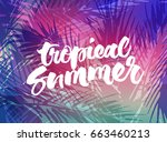 tropical summer background.... | Shutterstock .eps vector #663460213