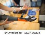 robotic hand | Shutterstock . vector #663460336