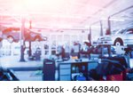 Small photo of Auto repair service. Blurred background.