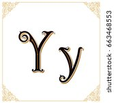 vector vintage font. letter and ...   Shutterstock .eps vector #663468553
