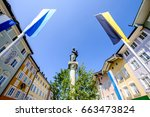 old town of bad toelz - bavaria - stock photo
