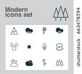 harmony icons set. collection... | Shutterstock .eps vector #663478594