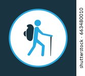 traveler colorful icon symbol.... | Shutterstock .eps vector #663480010