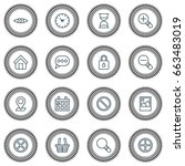 internet icons set. collection... | Shutterstock .eps vector #663483019