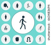people icons set. collection of ... | Shutterstock .eps vector #663483694