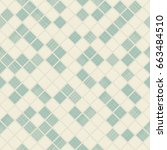 seamless mosaic pattern on... | Shutterstock .eps vector #663484510