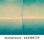 green tiles background texture  ... | Shutterstock . vector #663484729